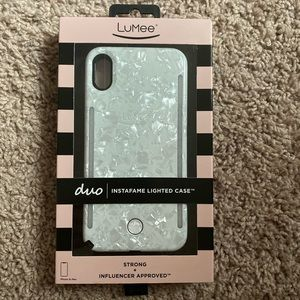 LuMee Duo Pearl White Phone Case XS MAX